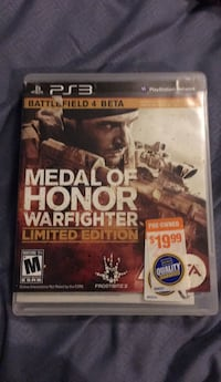 Medal of Honor Warfighter PS3 game case Seneca, 64865