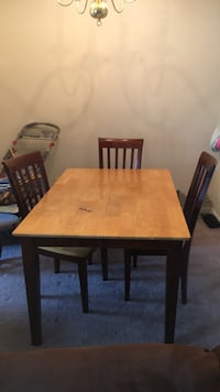 rectangular brown wooden table with four chairs dining set Alexandria, 22306