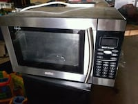 stainless steel and black microwave oven Brooks