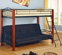 black metal bunk bed without mattress Albany