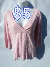 women's pink long-sleeved blouse Vancouver, 98686
