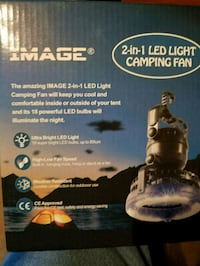 Two in one fan & light portable battery  operated