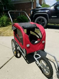 red and black bicycle trailer Westland, 48185