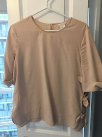 CLUB MONACO Pink top with side bows Toronto, M6C 1A2