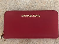 Michael Kors Red Leather Wallet Mason, 03048