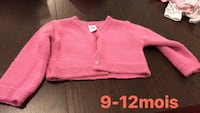 pink knitted button-up sweater Montréal, H1S 1M8