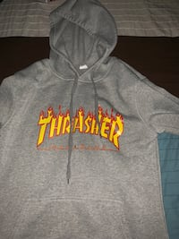 Thrasher Grey Flame Hoodie Silver Spring, 20904