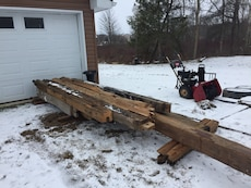 Hand hewn barn beams various sizes more then pictured