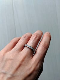 NEW // Sterling Silver Eternity Ring with CZ stone Richmond