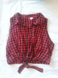 H&M cropped tie-front shirt size 36 Barcelona, 08018