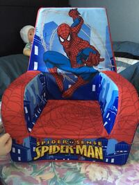 Red and blue spider sense spider-man sofa chair.
