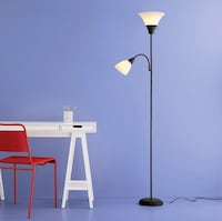 Floor Lamp w/ 2 Light Heads (one is a smaller task light) 28 mi