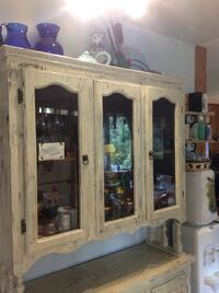 Solid wooden framed China cabinet