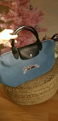 Longchamp denim pliage with strap Richmond, V6X 3P9