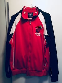 red and white letterman jacket Miami, 33143
