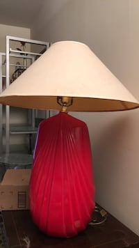 red and white table lamp 23 km