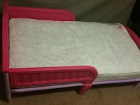 Pink & Purple Toddler Bed with mattress  Beaver Falls, 15010