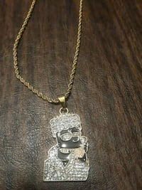Iced out Bart Simpson chain!!