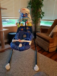 blue and yellow Fisher-Price cradle n swing Surrey, V3S 2A5