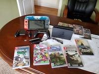 Nintendo Switch, Charging Station, Pro Controller, 9 Games