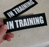 In Training ESA/Therapy dog Patches for Dog Harness