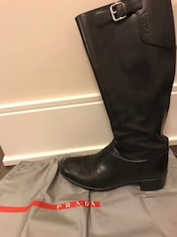Prada black leather riding boots size 37 (7) Toronto, M4P 1R2