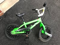 Green and white bmx bike Columbia, 21044