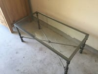 Pier one - pewter finished coffee table Austin, 78739