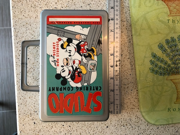Disney MGM Studios Catering Company Mickey Minnie Mouse Lunchbox Whirley Ind USA