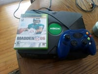 blue Xbox One console with controller and game cas Centennial, 80121