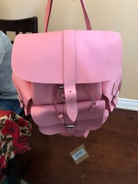 Pink and white leather backpack  bag Vaughan, L4H 0C9