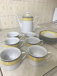 SET OF 6 CERAMIC COFFEE CUPS WITH COFFEE DISPENSER Montréal, H4N
