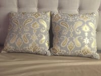 two white-and-green throw pillows Bothell, 98021
