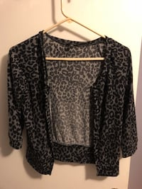 Gray Leopard Cardigan Brookeville, 20833