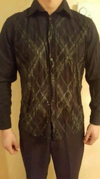 black and brown zip-up jacket Laval, H7X 3T5
