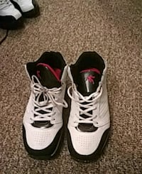 pair of white-and-black Nike basketball shoes Cleveland Heights, 44118
