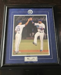 Signature Frame- Brett Lawrie & Jose Bautista Toronto Blue Jays NEW!  Collectible  Framed with solid wood black frame with a Toronto Blue Jays Pin. Perfect for a man cave or just to have as a collectors item.  16 X18 inches Picture Size 26 X 30 inches Fra Toronto