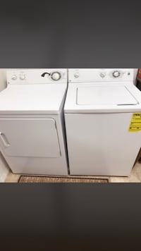 Whirlpool white washer and dryer set