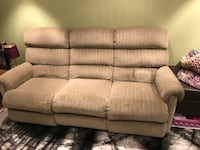 brown fabric 3-seat sofa 724 km