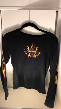 Harley Davidson, flames on sleeves Coquitlam, V3C 3S1