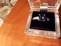 Size 9  crystal glass studded ring  Edmonton, T5G 2N2