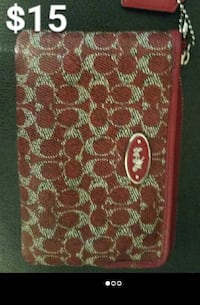 monogrammed red Coach leather wristlet Midland, 79706