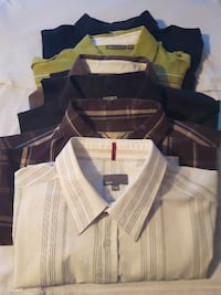 Lot of 4 XL BRAND NAME Men's Casual Short Sleeve Button Shirts