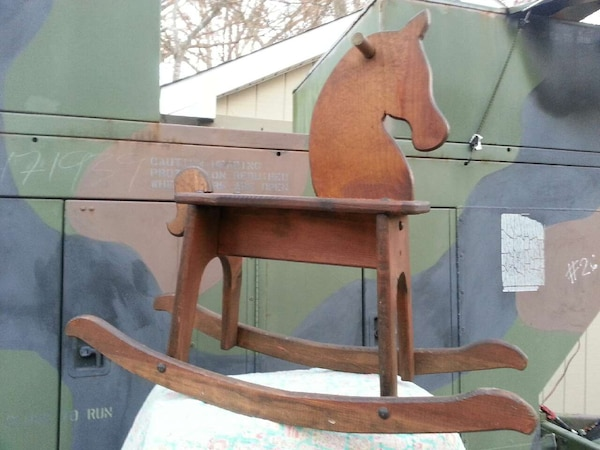 used wooden rocking horse for sale in raleigh letgo. Black Bedroom Furniture Sets. Home Design Ideas