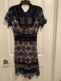 New Navy Blue Lace Dress-Small Mississauga
