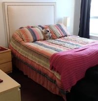 Queen Size Bed Spread w/ Skirt & 2 Pillow Shams Pickering