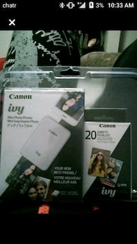 Canon ivy bluetooth pocket printer