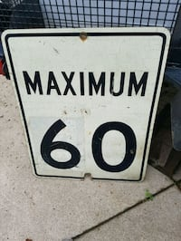 Speed road sign