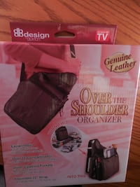 Design by Buxton Genuine Leather Over the Shoulder Organizer box