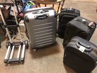 Luggage Suitcases SMALL SIZE on wheels $10+up New Westminster, V3M